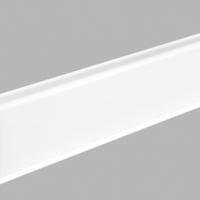 Напольный плинтус AIrbiton (Арбитон) Indo (Индо)  Белый глянец 01