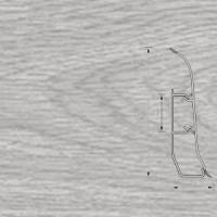 Напольный плинтус Ideal (Идеал) Элит-Макси Дуб серый