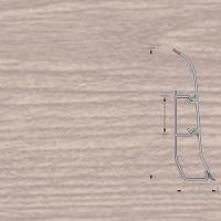 Напольный плинтус Ideal (Идеал) Элит-Макси Дуб снежный