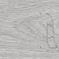Напольный плинтус Ideal (Идеал) Элит Дуб серый