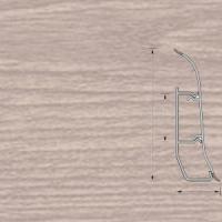 Напольный плинтус Ideal (Идеал) Элит Дуб снежный