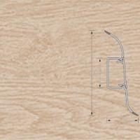 Напольный плинтус Ideal (Идеал) Комфорт Дуб беленый