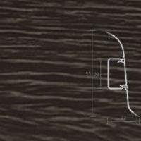 Напольный плинтус Ideal (Идеал) Комфорт Дуб мореный