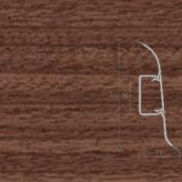 Напольный плинтус Ideal (Идеал) Комфорт Орех темный
