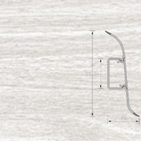 Напольный плинтус Ideal (Идеал) Комфорт Ясень белый