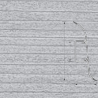 Напольный плинтус Ideal (Идеал) Комфорт Ясень серый