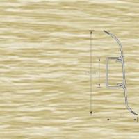 Напольный плинтус Ideal (Идеал) Комфорт Дуб северный