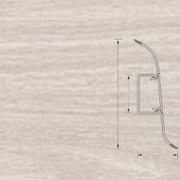 Напольный плинтус Ideal (Идеал) Комфорт Ясень светлый