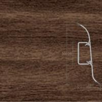 Напольный плинтус Ideal (Идеал) Комфорт Орех миланский